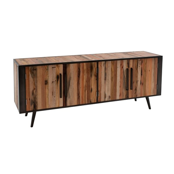 Debose Solid Wood TV Stand for TVs up to 55