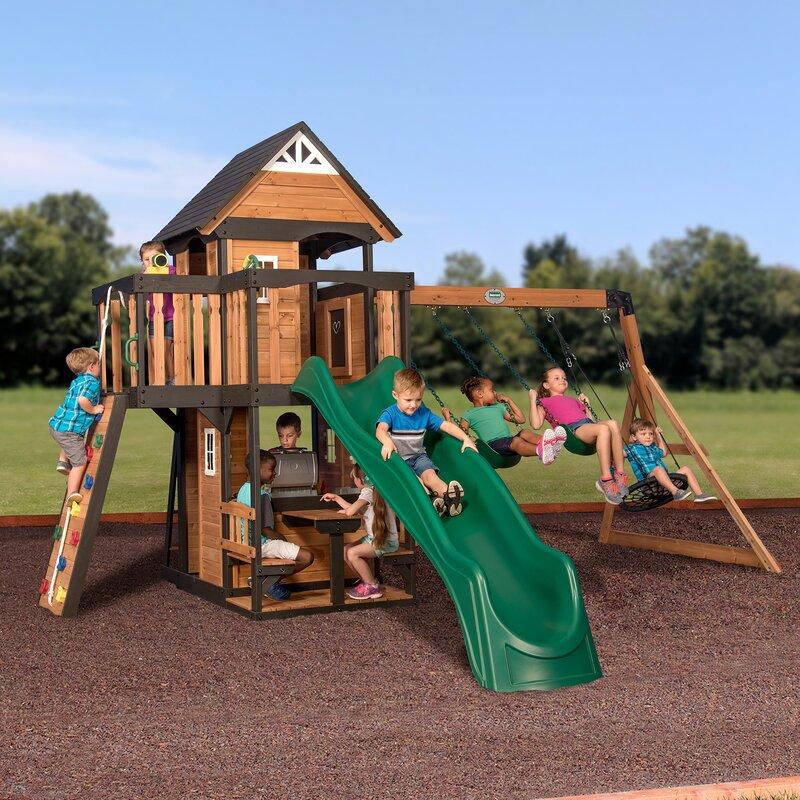 Backyard Discovery Shenandoah All Cedar Wood Playset Swing ...