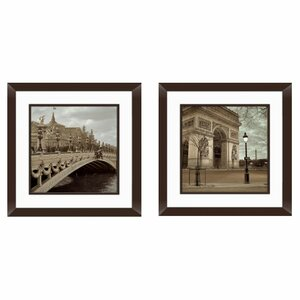 Paris 2 Piece Framed Photographic Print Set by PTM