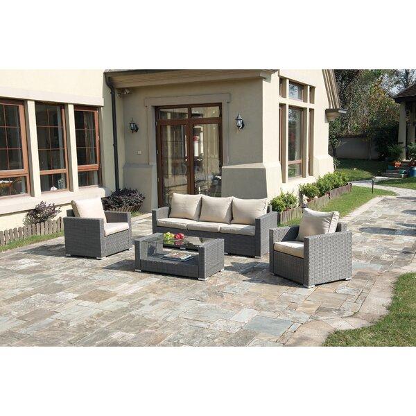 Lizkona Kemen 4 Piece Sofa Set with Cushions by Poundex
