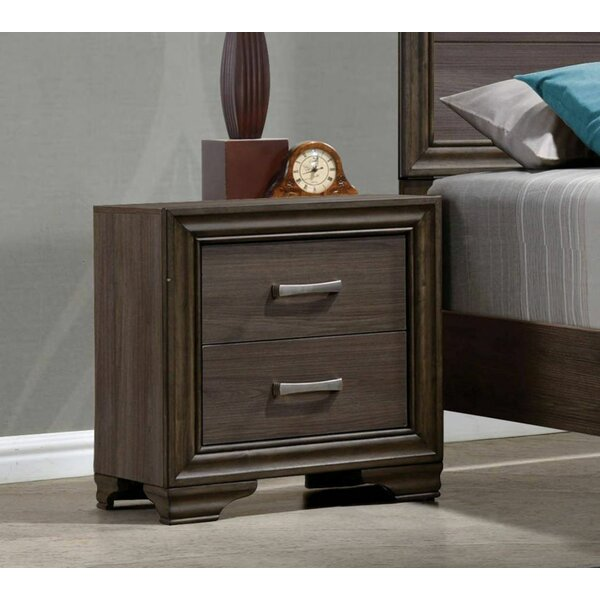 Woodworth 2 Drawer Nightstand by Foundry Select