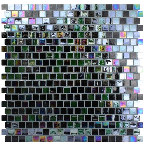 Opal 0.63 x 0.63 Glass Mosaic Tile in Cosmos by Kellani