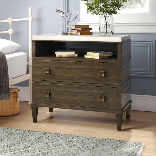 Hazen Two Drawer Nightstand by Greyleigh