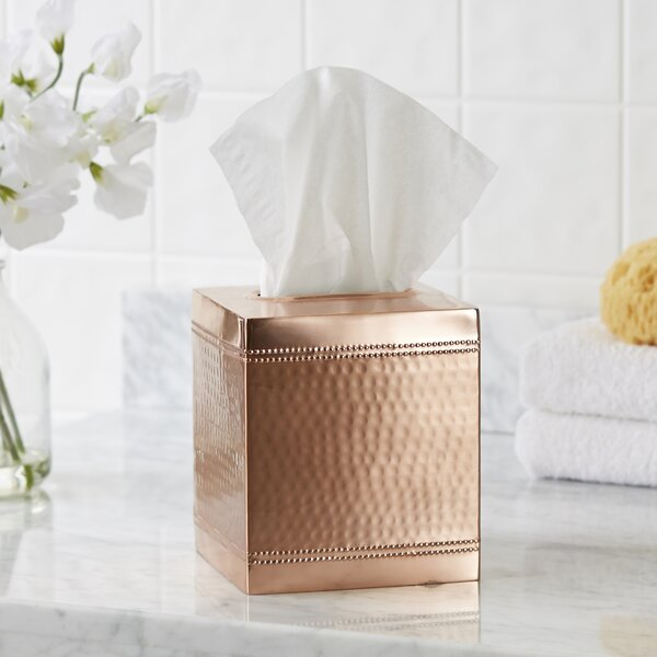 Hammered Copper Tissue Box Cover by Birch Lane™