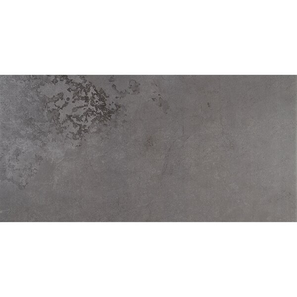 Slate Attaché 12 x 24 Porcelain Field Tile in Meta Dark Gray by Daltile