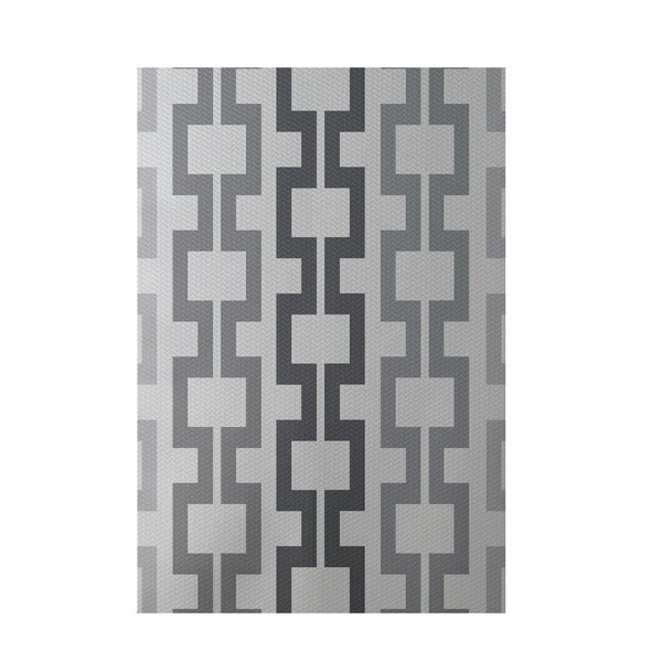 Geometric Light Gray Indoor/Outdoor Area Rug by e by design