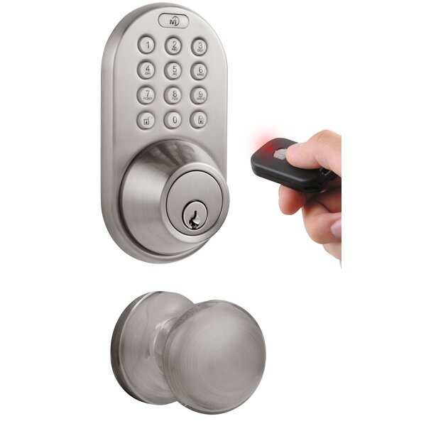 Keyless Electronic Single Cylinder Entrance Knobset by Milocks