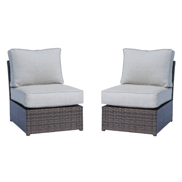 Saint-Louis Armless 2 Piece Chair (Set of 2) by Brayden Studio