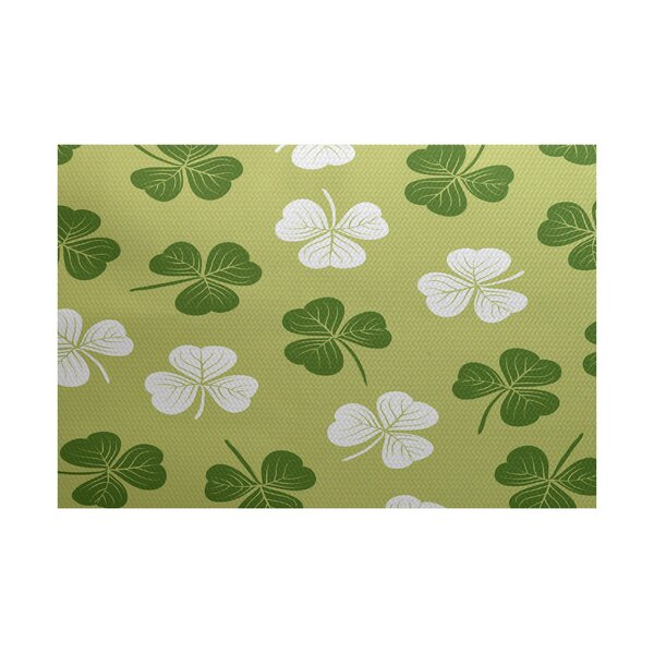 Funky Junky Green/White Area Rug by The Holiday Aisle