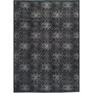 Reviews Barletta Black Area Rug By Rosdorf Park