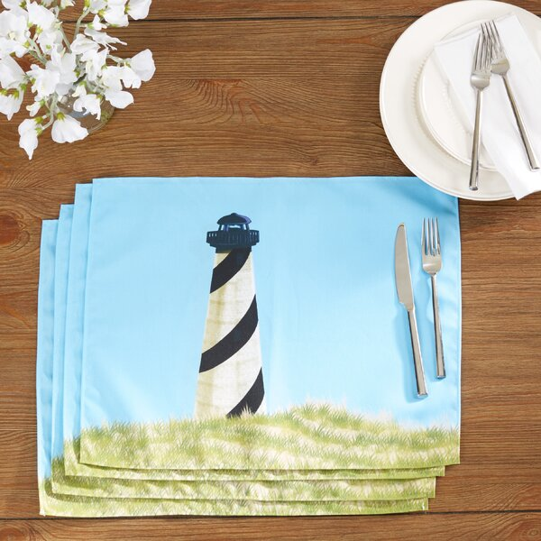 Hancock OuterBanks Geometric Print Placemat (Set of 4) by Breakwater Bay