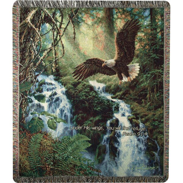 Eagles Flight Verse Cotton Throw by Manual Woodworkers & Weavers
