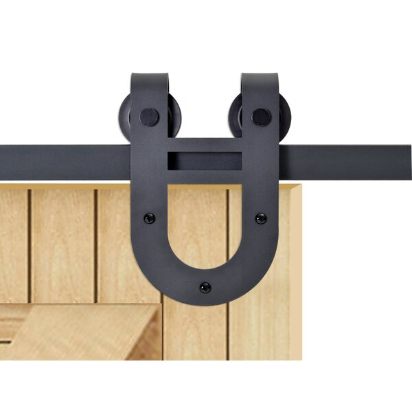 Classic Horseshoe Style Sliding Door Track Barn Door Hardware by Calhome
