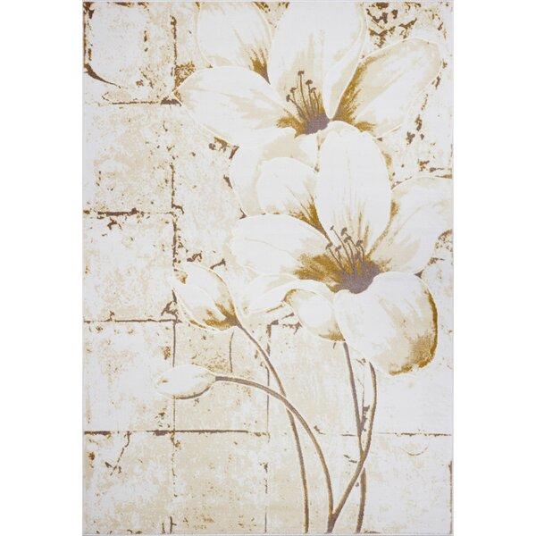 Osteen Tulip Beige/Cream Area Rug by Winston Porter