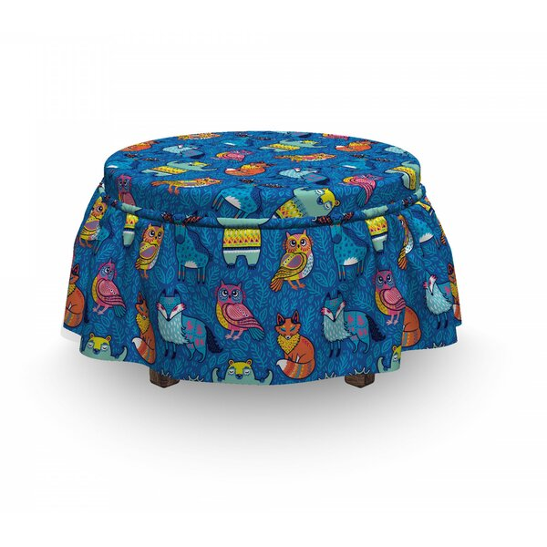 Animals Art Ottoman Slipcover (Set Of 2) By East Urban Home