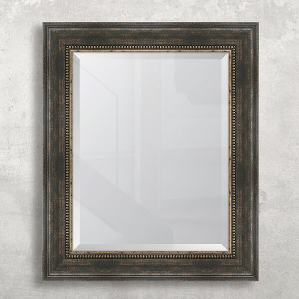 Black/Bronze Slope Wall Mirror by Melissa Van Hise