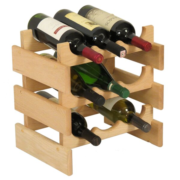Dakota 9 Bottle Tabletop Wine Rack by Wooden Mallet