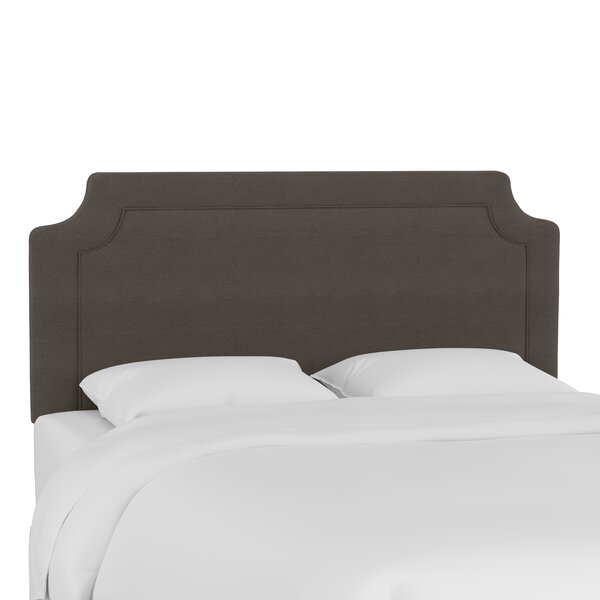 Whittlesey Twill Notched Upholstered Panel Headboard by Three Posts