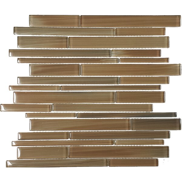 Contempo Jasper Strips Random Sized Glass Mosaic Tile in Brown by Epoch Architectural Surfaces