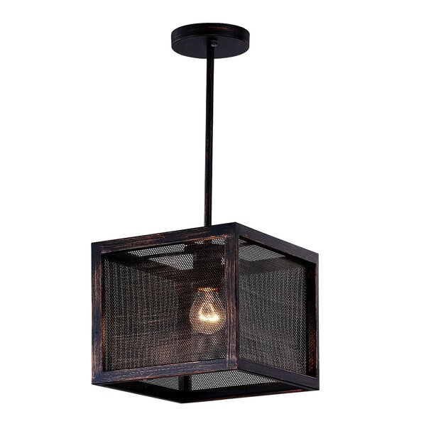 Calypso 1-Light Square Pendant by CWI Lighting