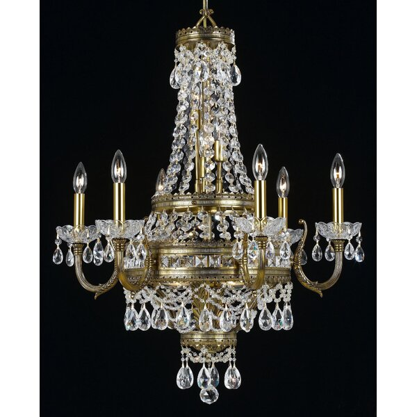 Contessa 12 - Light Candle Style Empire Chandelier By Classic Lighting