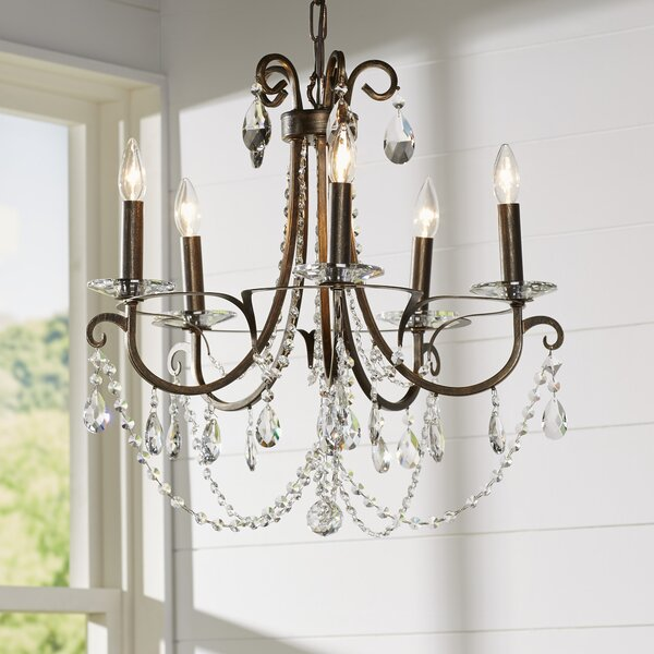 Roesler 5 - Light Candle Style Classic / Traditional Chandelier By Willa Arlo Interiors