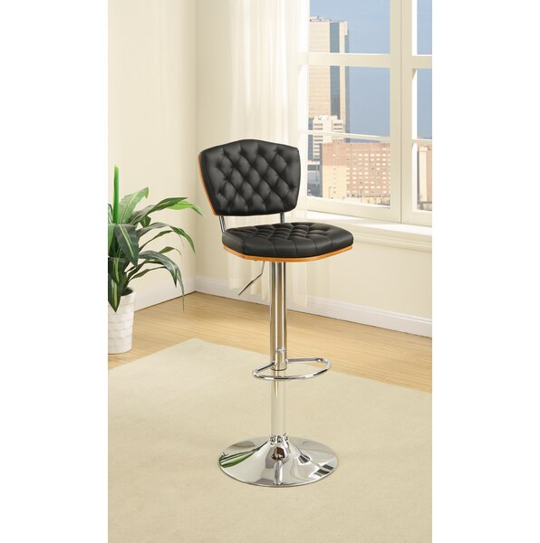 Luro Tufted Seat and Back Adjustable Height Bar Stool (Set of 2) by Latitude Run
