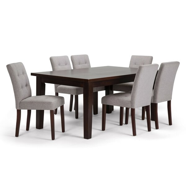 Washtenaw 7 Piece Solid Wood Dining Set by Red Barrel Studio Red Barrel Studio