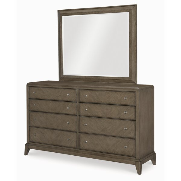 Whicker 8 Drawer Double Dresser with Mirror by Ophelia & Co.