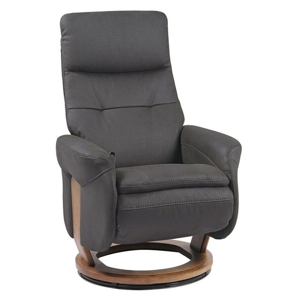 Narcisse Leather Manual Swivel Recliner by Latitude Run