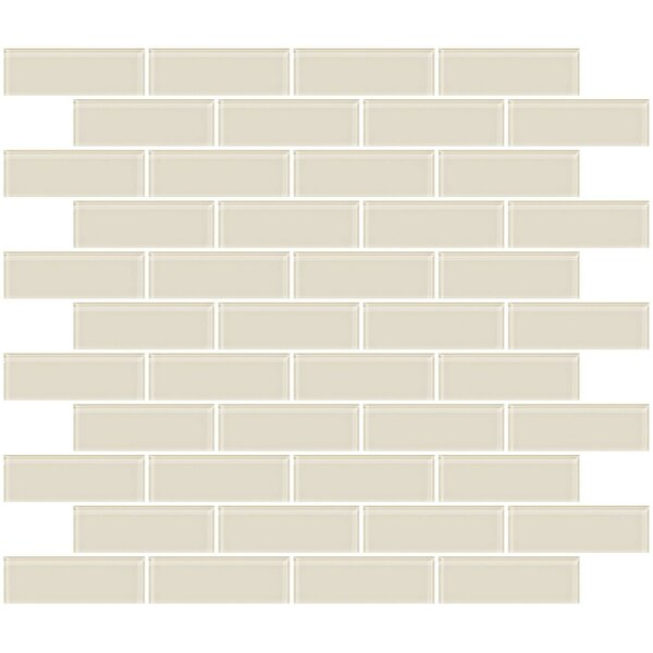 1 x 3 Glass Subway Tile in Vanilla Bone White by Susan Jablon