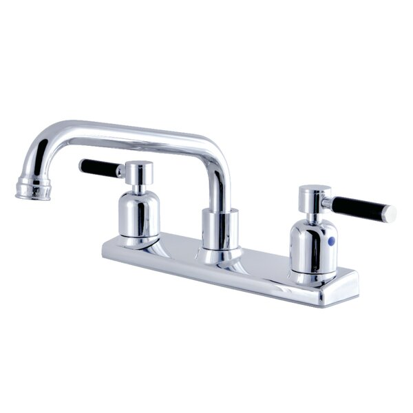 Kaiser Pull Out Double Handle Kitchen Faucet by Kingston Brass