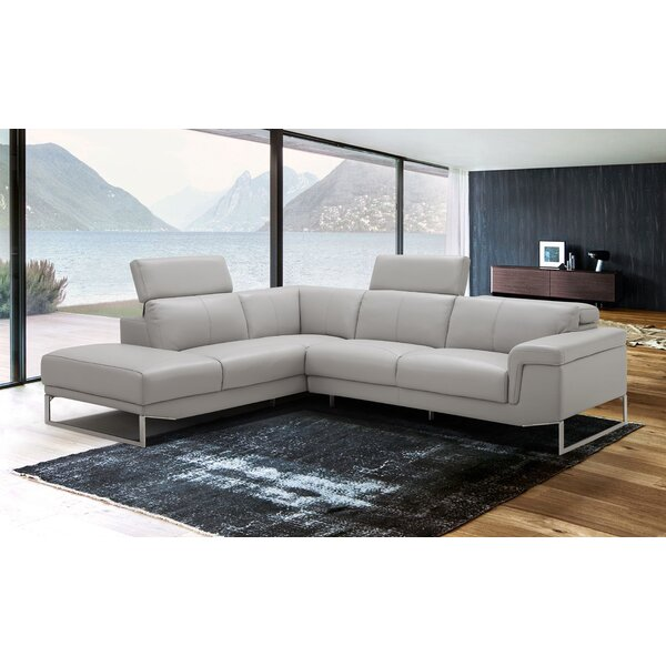 Baver Leather Sectional By Orren Ellis Read Reviews