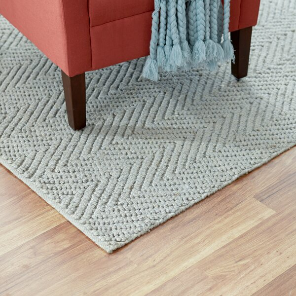 Honesdale Hand-Woven Gray Area Rug by Three Posts