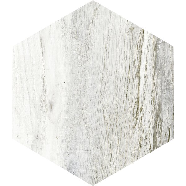 Docklight Hexagon 9.5 x 11 Porcelain Wood Tile in Wavecrest by Parvatile