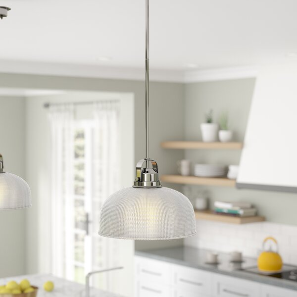 Bouvet 1-Light Dome Pendant by Laurel Foundry Modern Farmhouse