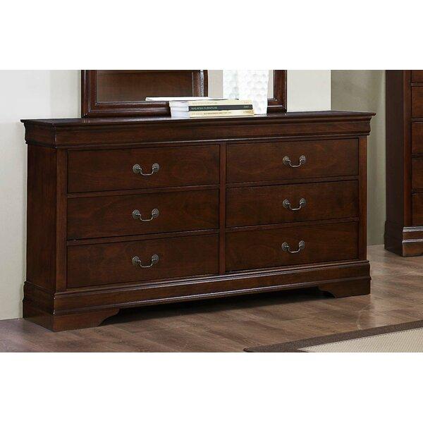 Moshe Wooden 6 Drawer Double Dresser by Alcott Hill