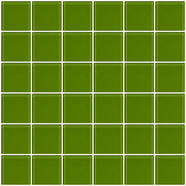 Bijou 22 2 x 2 Glass Mosaic Tile in Dark Lime Green by Susan Jablon