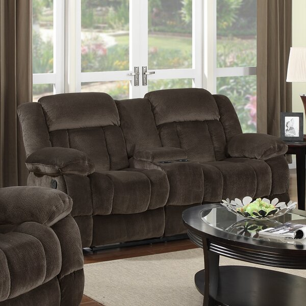 Buy Online Top Rated Teddy Bear Reclining Loveseat by Sunset Trading by Sunset Trading