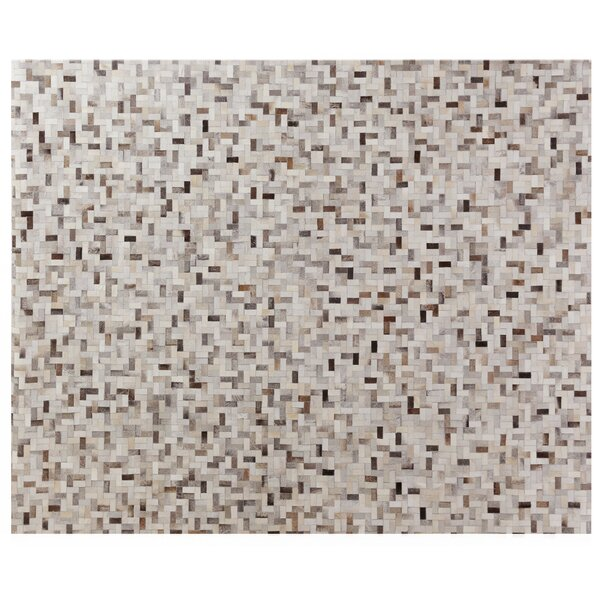 Natural Hide Hand-Tufted Cowhide Ivory/Brown/Gray Area Rug by Exquisite Rugs