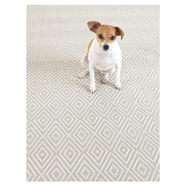 Diamond Hand-Woven Platinum/White Indoor/Outdoor Area Rug by Dash and Albert Rugs