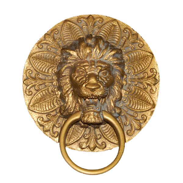 Lion Plaque Wall Mounted Holder Towel Ring by Hickory Manor House