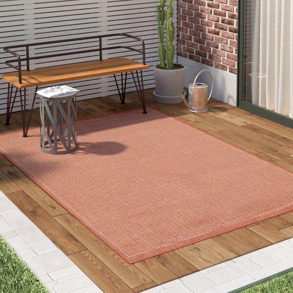 Adelmo Terracotta Indoor/Outdoor Area Rug by Trent Austin Design