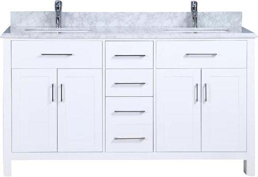 Prestwick 60 Double Bathroom Vanity Set by Breakwater Bay