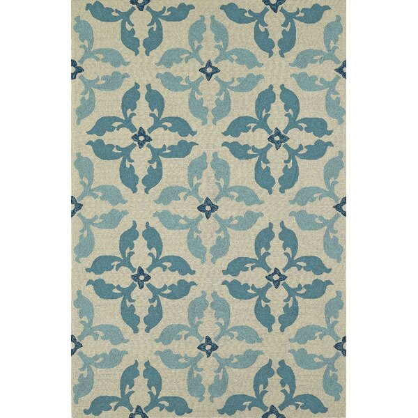 Cabana Hand-Tufted Peacock Indoor/Outdoor Area Rug by Dalyn Rug Co.