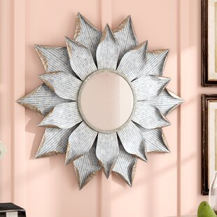 Laurel Foundry Modern Farmhouse Stacy Multi Layer Flower Accent Mirror
