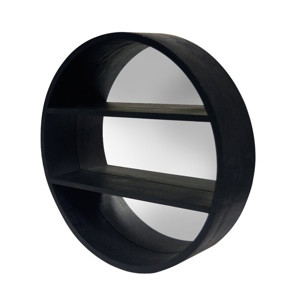 Remaley Round Mirror Wall Shelf by Latitude Run