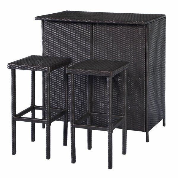Reyer 3 Piece Pub Table Set by Winston Porter