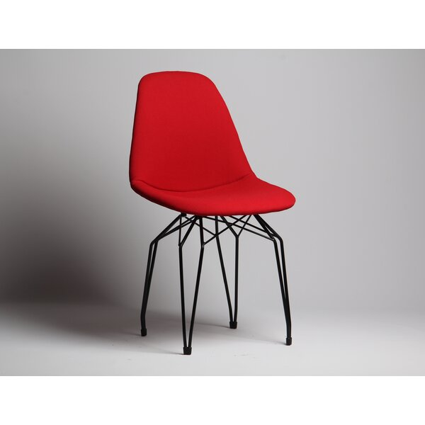 Nikolas Diamond Pop Upholstered Dining Chair by Wrought Studio