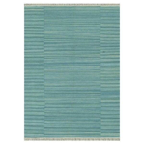 Barret Hand-Woven Seafoam/Teal/Ocean Blue Area Rug by Highland Dunes